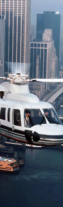 Helicopter flight training.